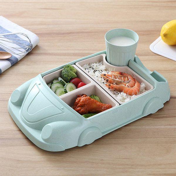 Children S Car Tableware Set In 2020 Kids Tableware Baby Feeding Dishes Tableware Set