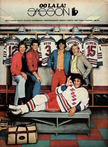 Vintage 1981 OO La La Sasson New York Rangers Hockey ad