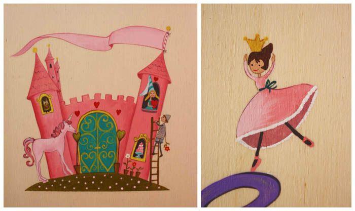 Cuadro infantil de castillos