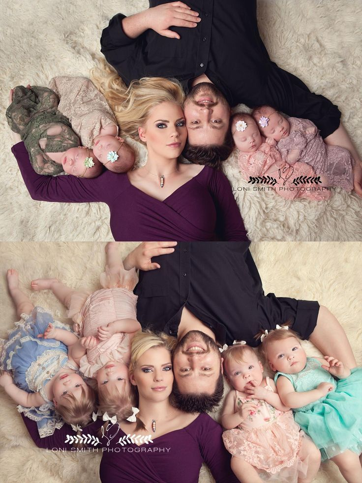 Loni Smith Photography - Utah whimsical newborn photography, Gardner quadruplets, quad squad, multiples