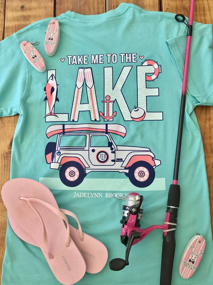 Take Me To The Lake - Short Sleeve Color: Chalky Mint (Crew Neck) 100% pre-shrunk, ringspun pigment-dyed cotton