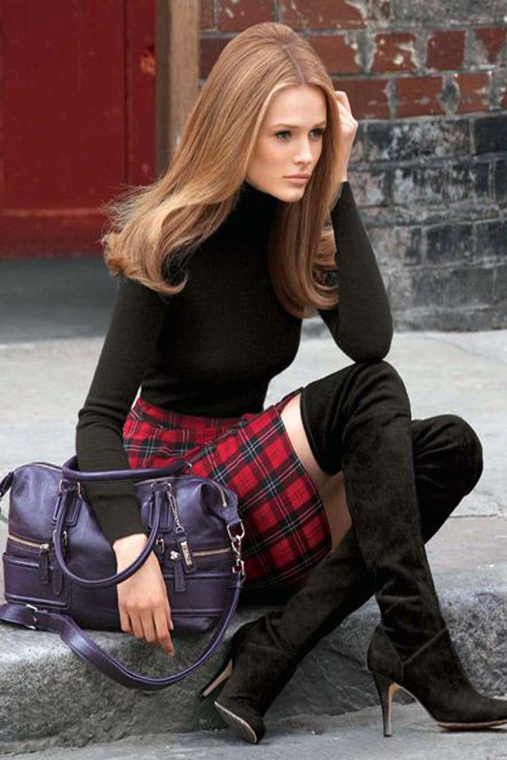 How To Wear a Tartan Mini Skirt