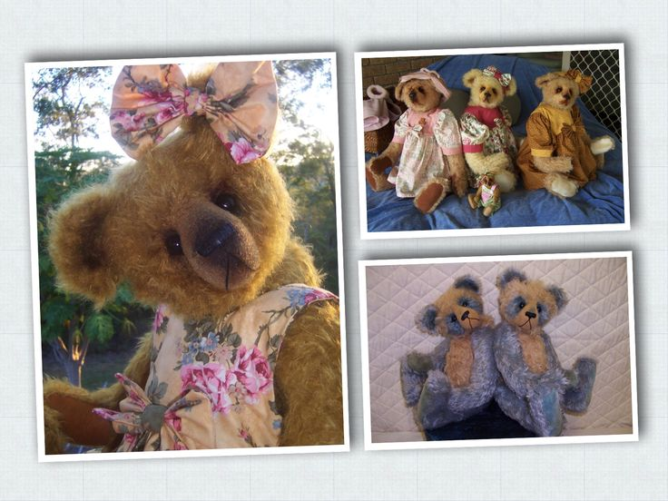 Here is a few bears from 1998 - 2003 #megelles Megelles is celebrating 30 years  of Bear Making in 2015