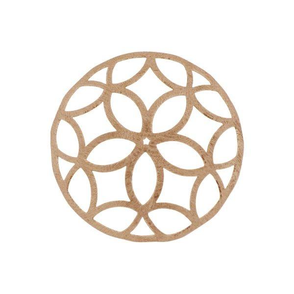 1e Gehalte zilveren rose gouden vergulde bolle cover 33 mm, MY iMenso.