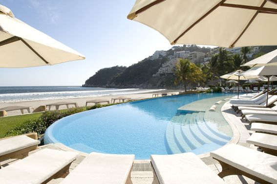 Quinta Real Acapulco (Acapulco, Mexico): njoy perfect solitude on a private golden beach or a blissful afternoon on a sun-drenched deck within this stunning Acapulco luxury hotel. #Mexico #Acapulco #travel #beach