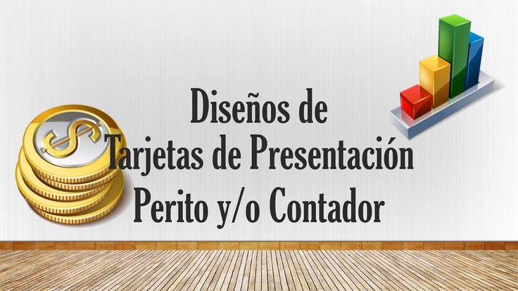 Diseños de Tarjetas de Presentación Para Contador, perito, Colección 1 D...