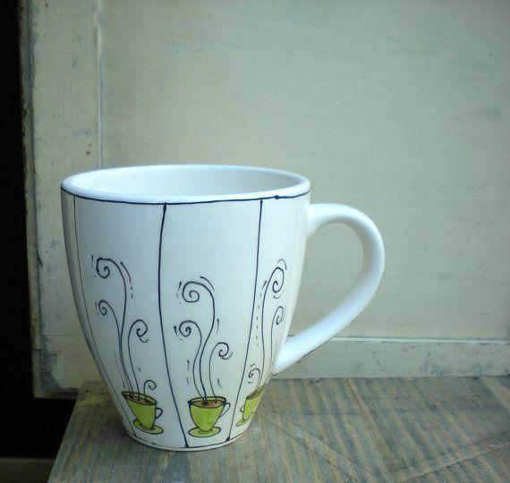 coffee cup mug $20.00 #etsy #elitesixteen #catherinereece