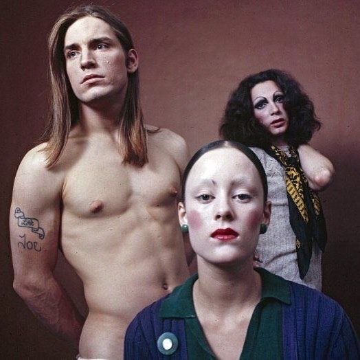 BUTCHCAMP threesomes: Joe Dallesandro, Jane Forth and Holly Woodlawn in Andy Warhol's Trash, 1970 #butchcamp #threesomes #joedallesandro #janeforth #hollywoodlawn #andywarhol