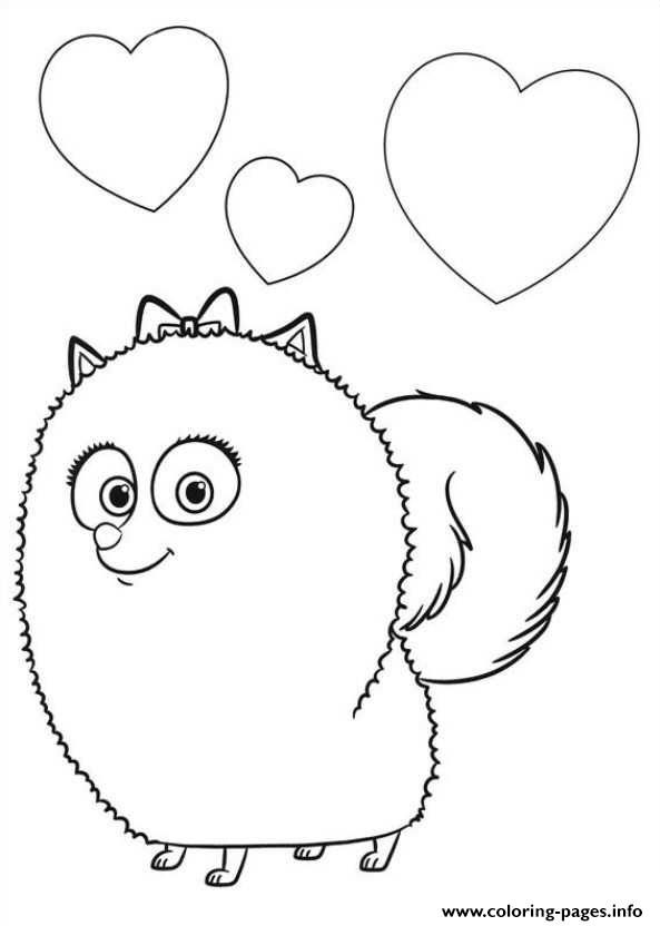 Print gidget is in love secret life of pets coloring pages ✖️More Pins Like This One At FOSTERGINGER @ Pinterest✖️