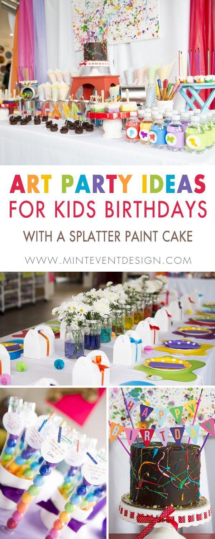 Little Artist Rainbow Birthday Party Rainbow Birthday Party Art