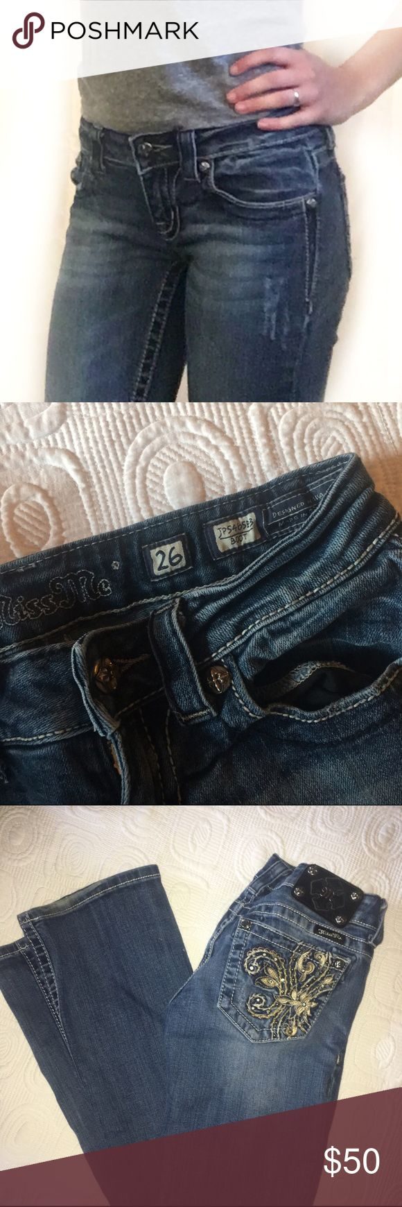 Miss Me Jeans Very good condition, boot cut miss me brand jeans. Size 26. Miss Me Jeans Boot Cut
