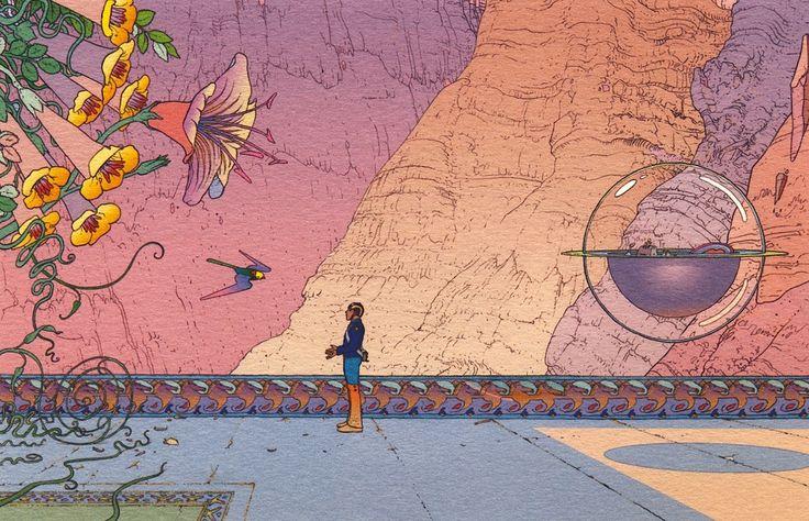 Exotic Encounter by Jean Henri Gaston Giraud (Mœbius)