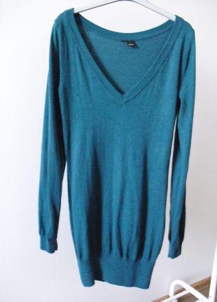 Kup mój przedmiot na #vintedpl http://www.vinted.pl/damska-odziez/dlugie-swetry/10830268-morski-sweter-tunika-dlugi-m