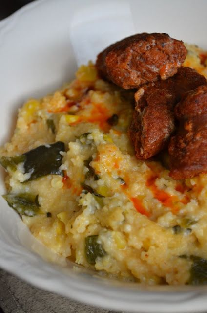 For the Love of Dessert: Roasted Poblano & Corn Grits w/ Chorizo