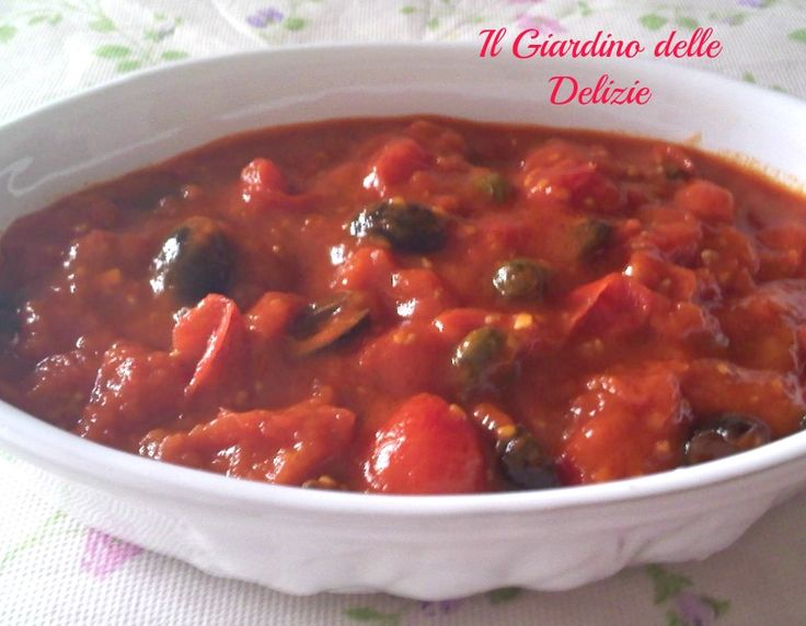 Sugo al pomodoro e olive