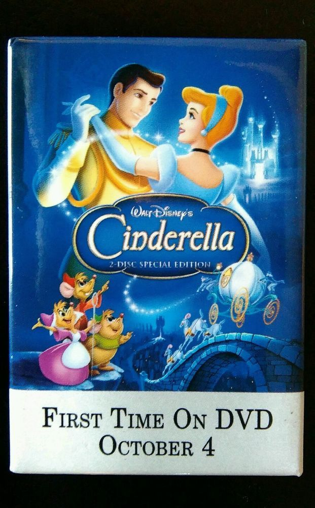 Cinderella DVD Release Promotional Pin