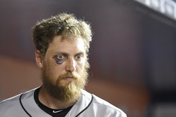 Hunter Pence #8 of the San Francisco Giants