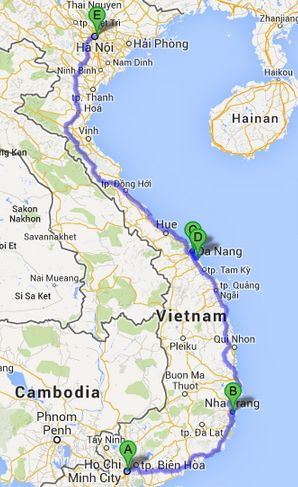 A two weeks itinerary for visiting Vietnam