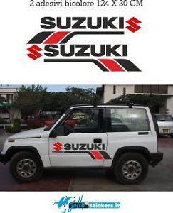 Adesivi per suzuki 4x4 fasce stripes fiancate strisce laterali sticker M0012   eBay