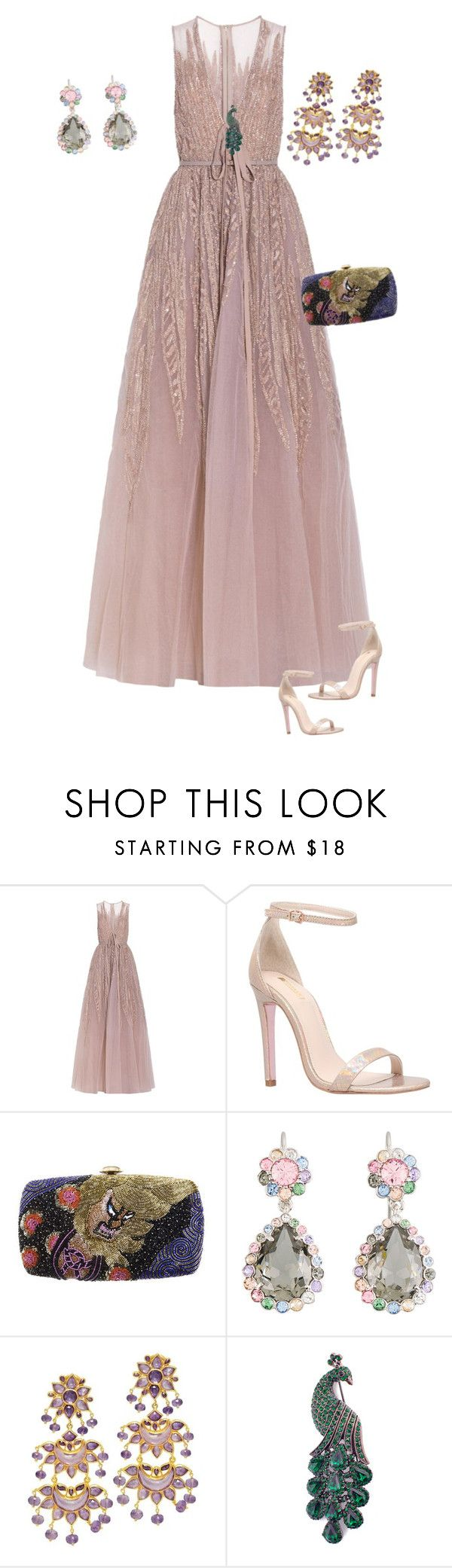 """Untitled #606"" by clothes-wise ❤ liked on Polyvore featuring Elie Saab, Carvela, Forest of Chintz and Miu Miu"