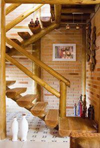 cozinha americana rústica em eucaliptos - Pesquisa Google