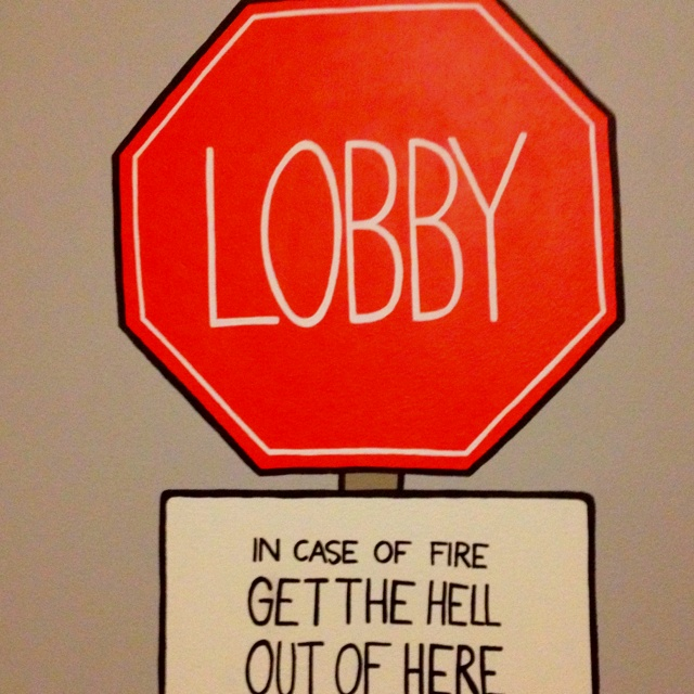 Lobby sign @ Comfort Xpress Hotel