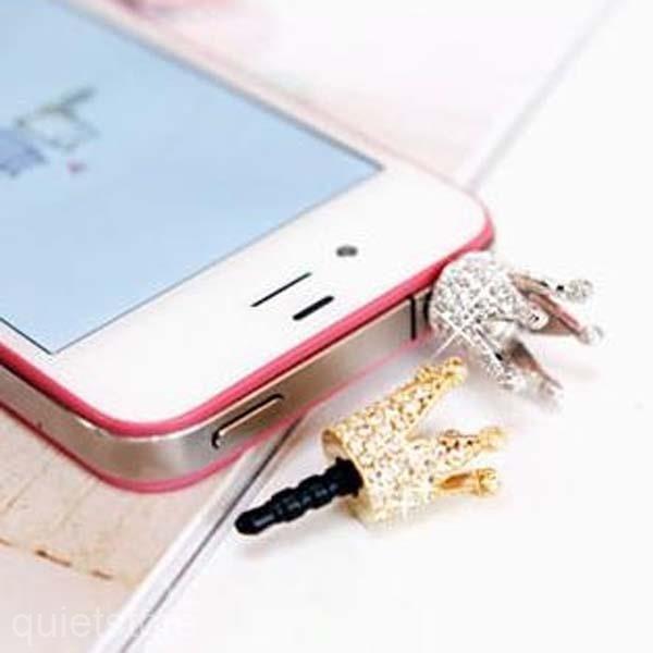 3,5mm Kaiserkrone Staub Schutz Anschluss Stecker für Handy iphone Samsung Sony