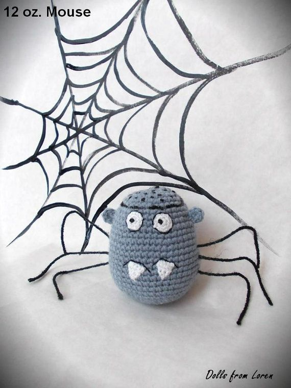 Spider 12 oz. Mouse Crochet Toy crochet Spider 12 by LorensDolls