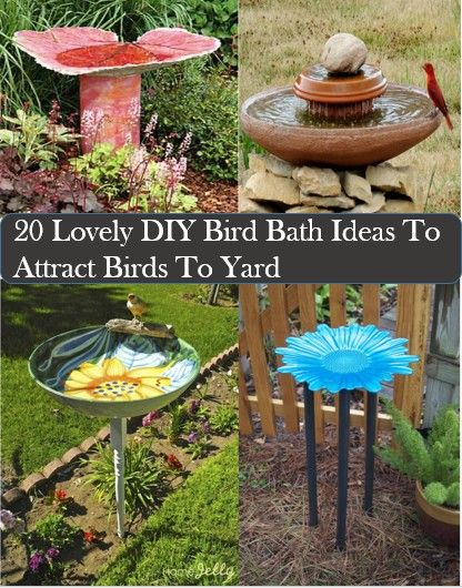20 Homemade bird bath to bring birds to your yard. Theselfsufficientliving.com