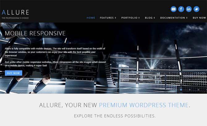Allure - Professional WordPress Template