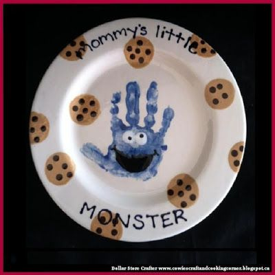 Dollar Store Crafter: DIY Cookie Monster Plate