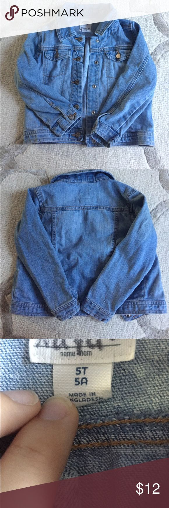 Old navy jean jacket Old Navy toddler size 5T light jean jacket. Does have my daughters name on tag no holes or stains. Old Navy Jackets & Coats Jean Jackets