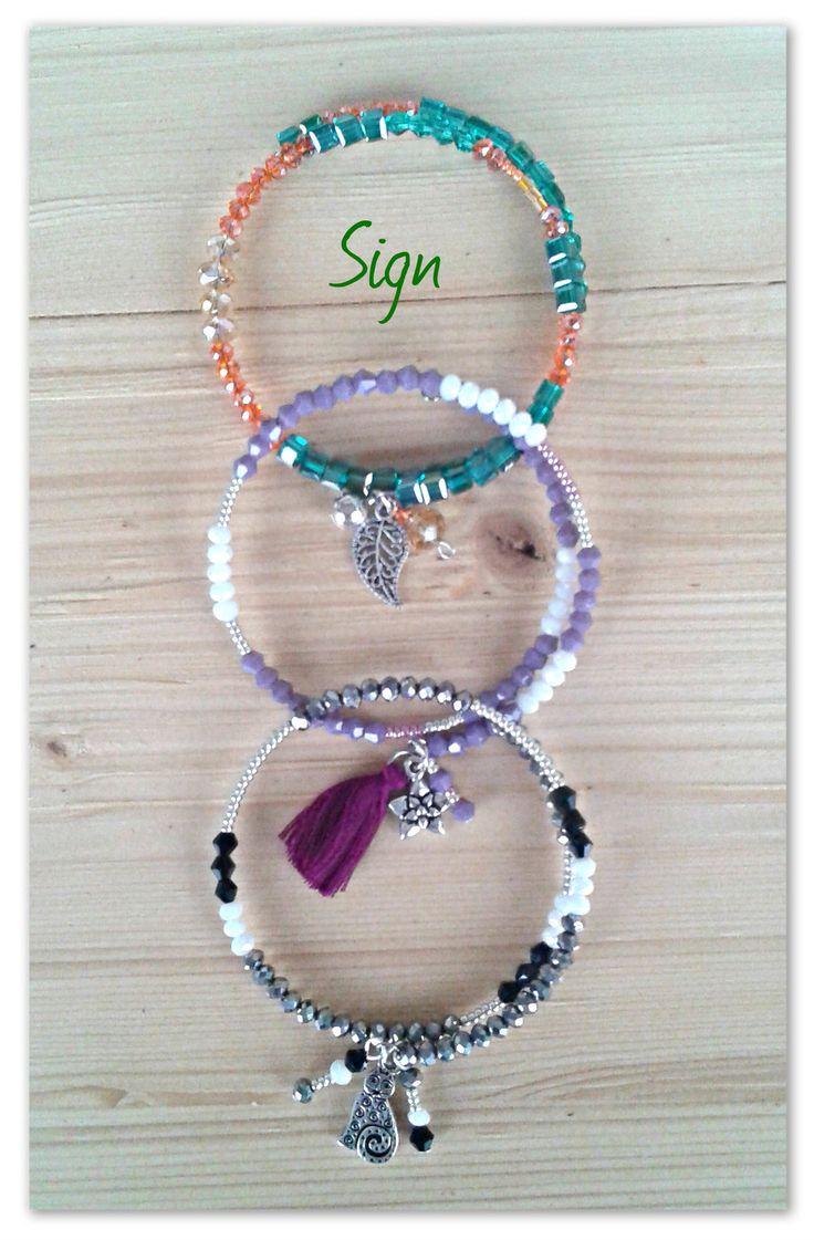 Memory wire bracelets - Bracciali Memory con cristalli e perline