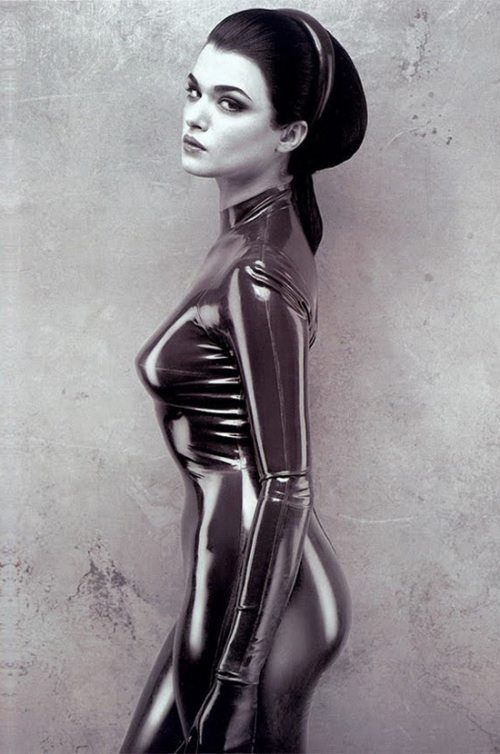 Rachel Weisz by Bob Carlos Clarke -  This is my FAVOURITE BCC shot and probably my favourite portrait ever.  The use of contrasting textures and reflective qualities is amazing.  Rachel Weisz may have something to do with it to tho :)  Such an iconic image.