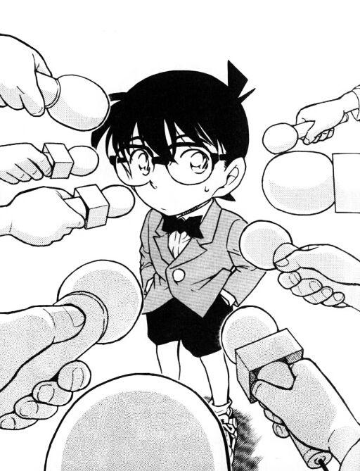 Quand Conan-kun dit qu'il n'a que 7 ans, alors qu'il vient de résoudre une affaire...