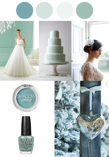 #Winter #Wedding Palettes - Teal and White