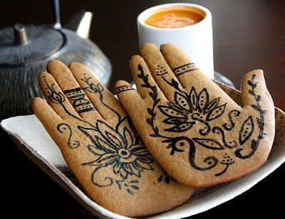 Mehndi Inspired Spice Cookies.. Great favor for an Indian inspired wedding or party..