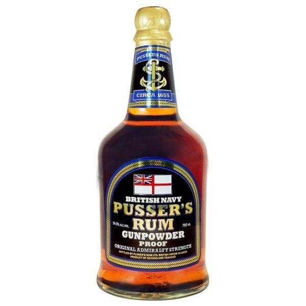 Pussers Gunpowder Proof Black Label Rum 70cl