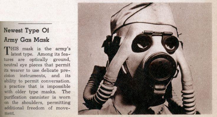 Cutting-edge gas mask design, circa 1941. (Retronaut)