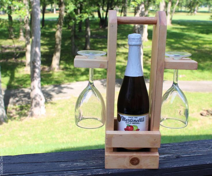 Diy Wine Caddy With Glass Holder Dyi Ideas Wine Caddy