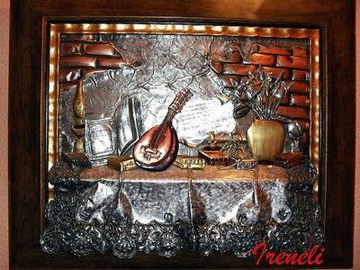 Bodegón estaño,cobre y bronce