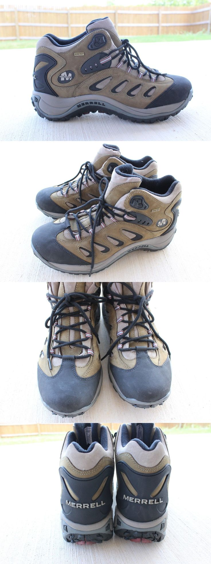Mens 181392: Merrell Boots Shoes Hiking Mid Rise Reflex Gore-Tex Kangaroo Brown Nwob Size 13 -> BUY IT NOW ONLY: $99.99 on eBay!