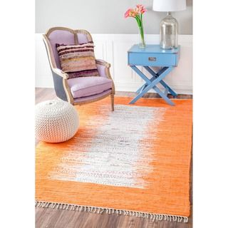 Shop for nuLOOM Handmade Abstract Border Flatweave Cotton Rug (8' x 10'). Get free shipping at Overstock.com - Your Online Home Decor Outlet Store! Get 5% in rewards with Club O!