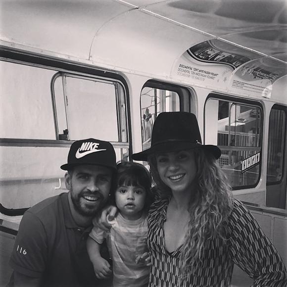 """""""¡Funicular!"""", escribió Gerard Piqué en su cuenta de Instagram, el 20 de julio de 2014."""