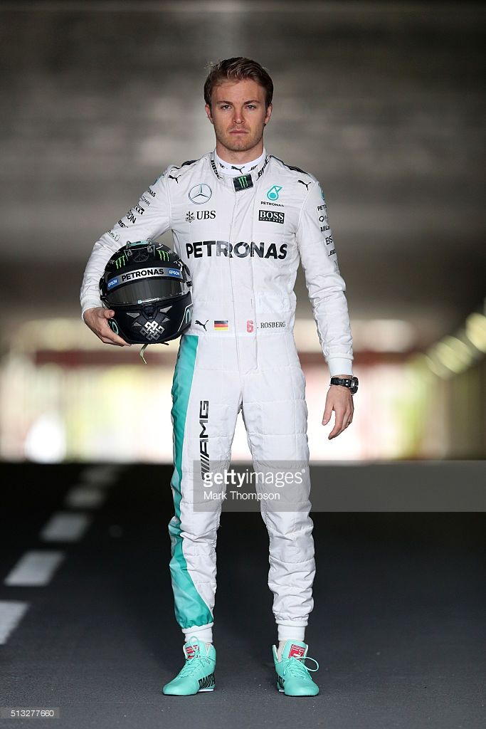 Nico Rosberg of Germany and Mercedes GP poses during day two of F1 winter testing at Circuit de Catalunya on March 2, 2016 in Montmelo, Spain.
