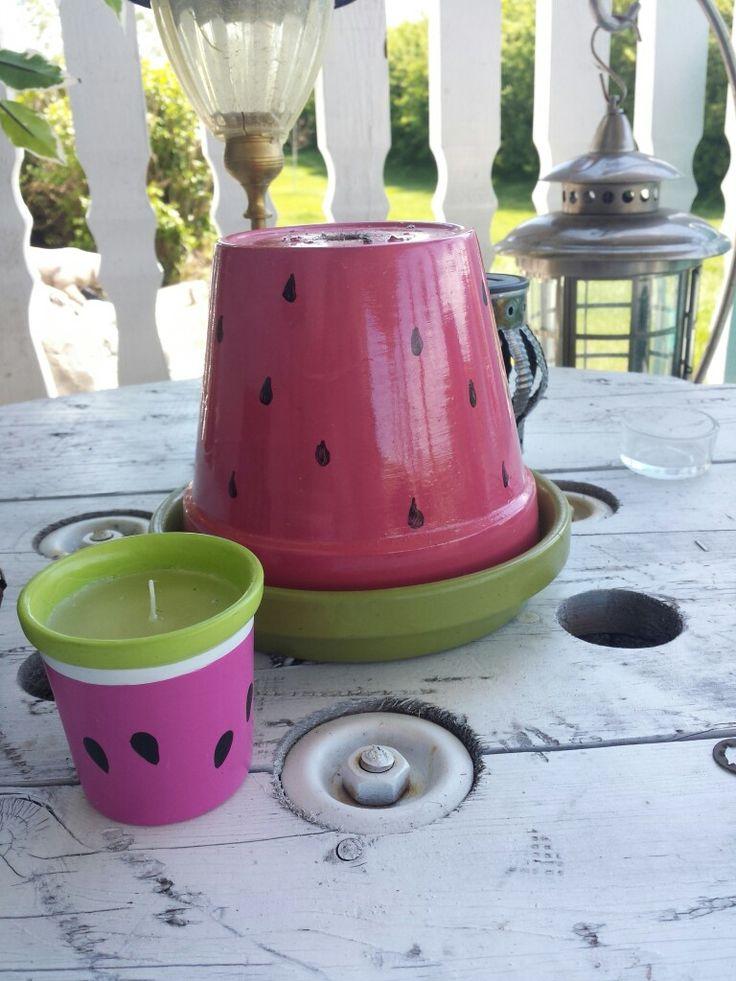 Hidden Cute Watermelon Ashtray For Gross Cigarette Butt Outside