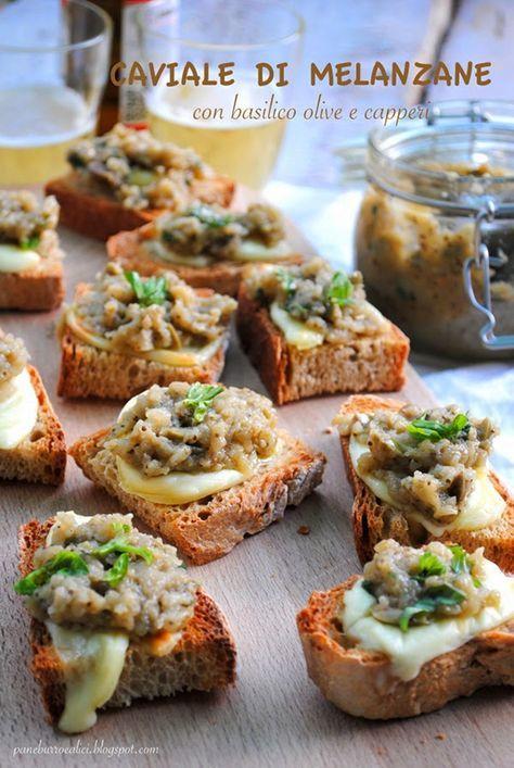 """Pane, burro e alici: Il """"caviale di melanzane"""" nella mia variante con basilico, olive e capperi"""