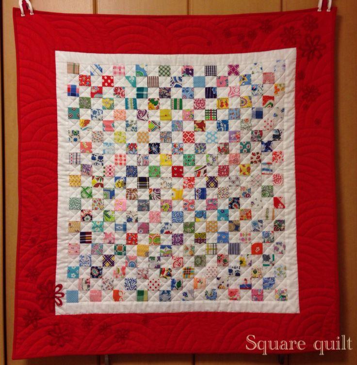Square quilt!   hand piecing,hand stitching,hand quilting!  2014 summer