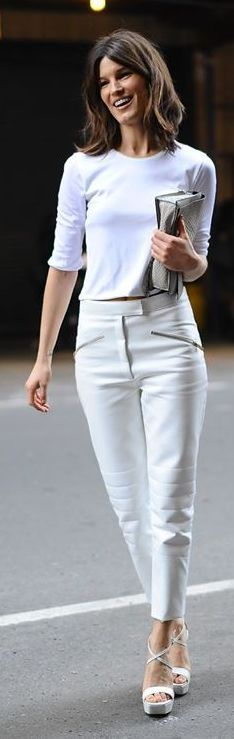 White Leather Pants.