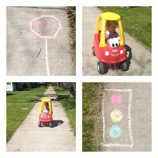 sidewalk chalk driving games :) so adding this to the summer list o' fun